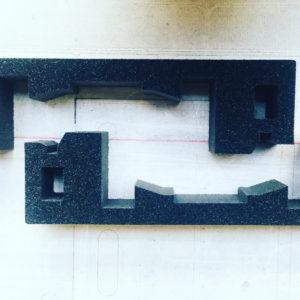 CNC Schneiden Schaumstoffeinlage Koffereinlage