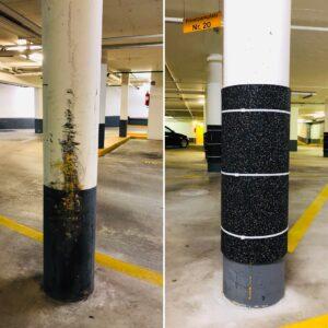 Burmak AG Schneidebetrieb Gummi Zuschnitte Schutzmatte Säulenschutz Tiefgarage