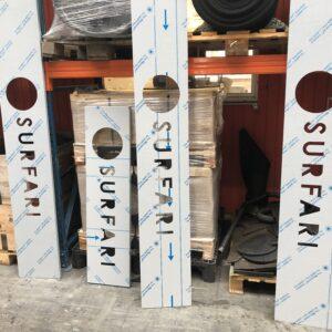 Burmak AG Wasserstrahlschneiden Fassadenbeschriftung