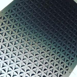 Burmak AG Wasserstrahlschneiden Sichtschutz Aluminium pulverbeschichtet