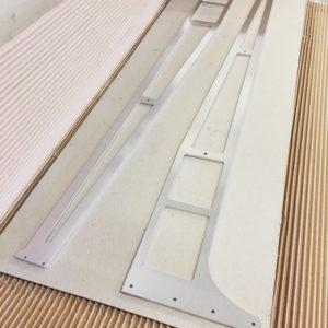 Burmak AG Aluminium wasserstrahlgeschnitten, geschliffen, eloxiert