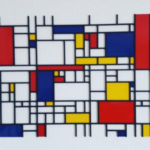 Burmak AG Wasserstrahlschneiden Mondrian Kunst