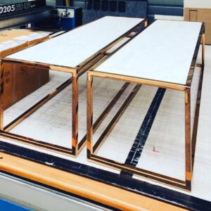 Burmak AG Wasserstrahlschneiden Marmor Tischplatte