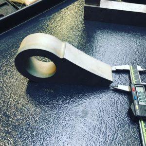 Wasserstrahlschneiden Schweissteil aus Stahl