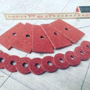 Flachbett Schneidplotter EPDM Gummi Zuschnitte