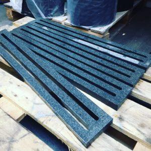 Wasserstrahlschneiden Granit Terrassenrinnen