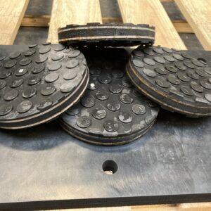Burmak AG Wasserstrahlschneiden Stahl Gummi Lagerungsringe