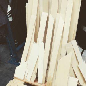 Wasserstrahlschneiden Holz Formteile
