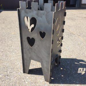 Feuerschale aus Metall individuell schneiden mit dem Wasserstrahl