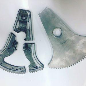 Wasserstrahlschneiden Metall Motorenteil