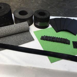 Gummi Zuschnitte Rollen Streifen Pads