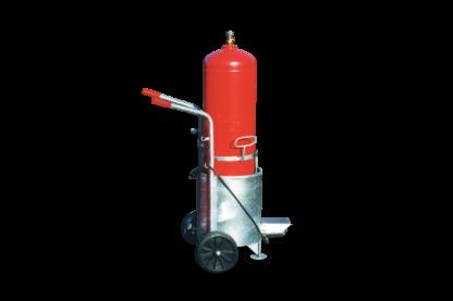 Flachdachbau Gasflaschen-Anwärmgerät