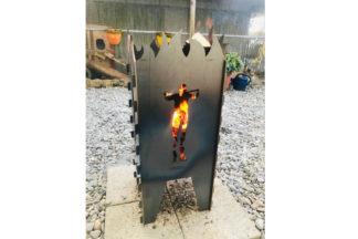 Feuerschale Wasserstrahlschneiden Metall