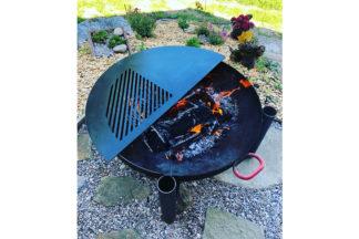 Burmak AG Wasserstrahlschneiden Grillplatte für Feuerschale